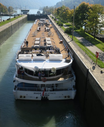The River Beatrice in a lock