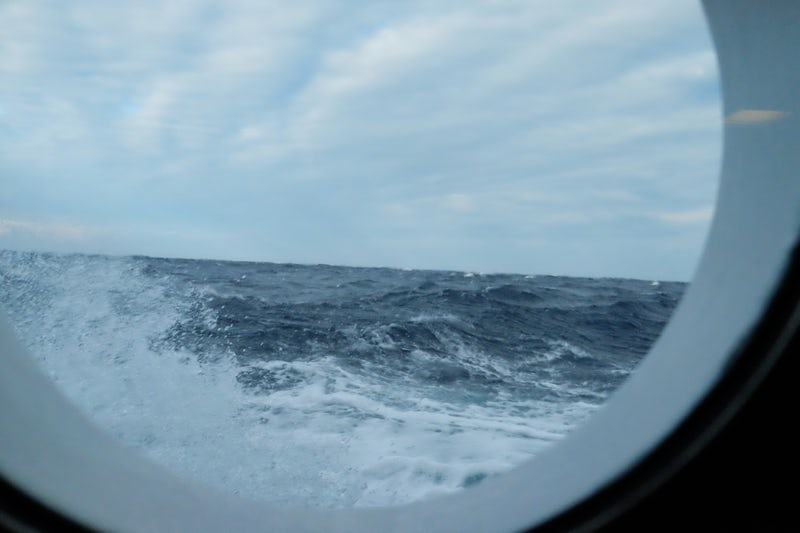 Port hole during high seas