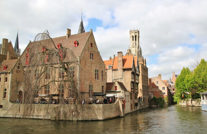 Bruges Belgium.  We toured Bruges on April 8, and I took this photo of a po