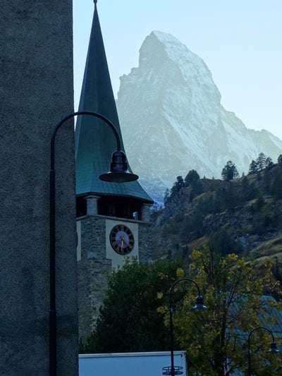 Matterhorn from Zermatt Switzerland. Post Cruise shore excursion.