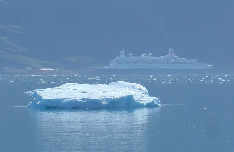 Boudicca in the background, iceberg in the foreground.........