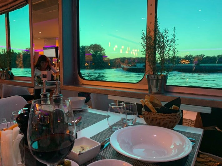 dinner on the ship