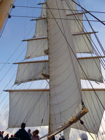 Sails at sea, middle of the Atlantic