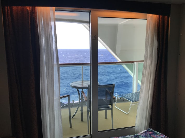 View of the cabin balcony 9654