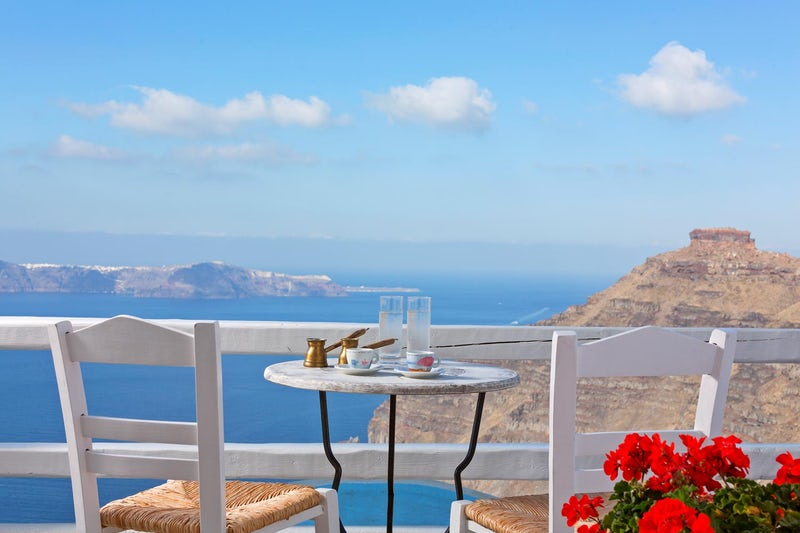 Greek coffee with a view!